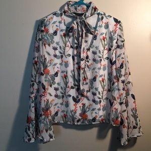 Walter Baker floral print blouse